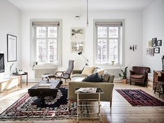 Scandinavian apartment with vintage items