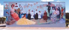Mural titled:  Women of the Wiregrass.  Dothan Al.