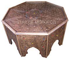 Octagonal Fez Brass Table