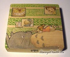 Totoro Wooden Box (Made to Order). $25.00, via Etsy.