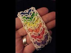 HERRINGBONE Rainbow Loom Bracelet. Designed and loomed by Ellen Carpenter. Click photo for YouTube tutorial on the feelinspiffy channel.