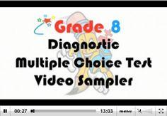 Grade 8 Diagnostic Multiple Choice Test - Video Sampler