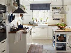 Küche im Landhausstil gestalten authentisch einrichtung weiß