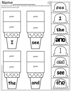 Sight Word Scoops!  Uses different fonts to help read a variety of prints and published styles!