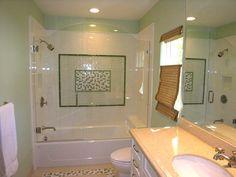 Frameless shower doors for existing bathtub.