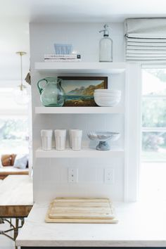Open shelves in kitchen | Studio McGee