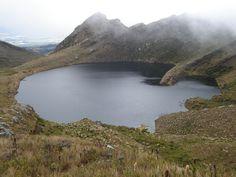 Páramo lagoon at Chingaza National Park - Bogota, Colombia