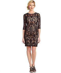 Adrianna Papell Deco-Lace Sheath Dress on shopstyle.com