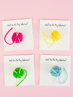 Wool You Be My Valentine with Free Printable. These are so fun for kids to unravel and find the surprise treat inside!