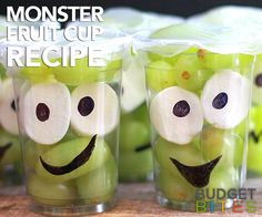 Give the kids a snack that will make them smile! These Monster Fruit Cups are adorable and so easy to make. Watch the video tutorial!