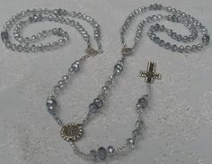 FREE SHIPPING Lasso Wedding Rosary Czech Faceted Crystal by kastex