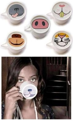 Coffee MUGS also double up as animal masks. More Coffee MUGS also double up as animal masks. More Coffee MUGS also double up as animal mask Sharpie Crafts, Sharpie Art, Sharpies, Diy Becher, Porcelain Pens, Fine Porcelain, Pottery Painting Designs, Mug Art, Diy Mugs