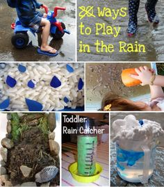What to do on Rainy Days... in the rain! Yes, allow your kids to play in the rain! (for lightning-free rain)