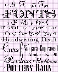 My-Favotie-Fonts. Free also with instructions to download