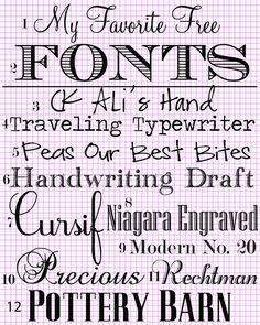 My-Favotie-Fonts