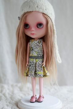 Photos4sue Pleat Dress for Blythe Doll jumbo by photos4sue