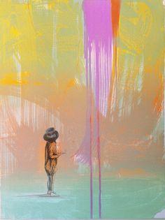 Med Utgangspunkt I Dette Flotte Har Gro Kunst - potitoo Mittens, Abstract, Artwork, Painting, Magic, Kunst, Pictures, Fingerless Mitts, Summary