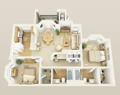 Community: Positano Floor Plan: Salerno 2 Bed / 2 Bath 1034 Sq. Ft. From $912 - $1,138