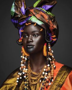 Khoudia Diop Celebrates Her Nyenyo Culture In This Stunning Photo Series African Beauty, African Women, African Fashion, Beauty Around The World, People Around The World, Beautiful Black Women, Beautiful People, Beautiful Smile, Skin Girl