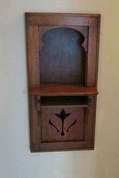 Laurelhurst 1912 Craftsman: Old Fashioned Phone Niche (probably mid 1920s)