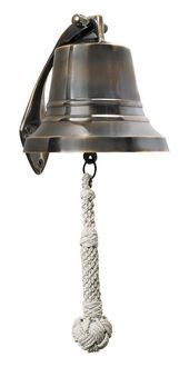 Bronze Ships Bell- 5 inch - Love this for the front door! - Want instead of silly doorbell, with a sign under it that says RING THE BELL