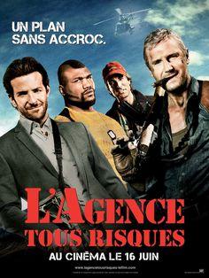 L'Agence tous risques est un film de Joe Carnahan avec Liam Neeson, Bradley Cooper. Synopsis : Aucune équipe ne ressemble à celle de L'Agence Tous Risques. Quatre hommes, hyper qualifiés et autrefois membres respectés d'une unité d'élite de l'ar