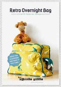 birchfabrics: Free PDF Pattern | Retro Overnight Bag | by The Crafty Kitty