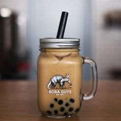 Boba Guys Milk Tea and Snack Bar in San Francisco, CA offer dairy-free soymilk, almond milk and rice milk to make creamy vegan bubble tea and coffee.