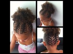 Tiny braided cornrows