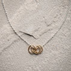 """Freshie and Zero """"Cluster"""" Necklace-This Cluster necklace by Freshie and Zero is a two-tone style with modern design. Double it up with your favorite pearl necklace or leather cord necklace. It's a great companion piece or let it stand on its own and wear it alone."""