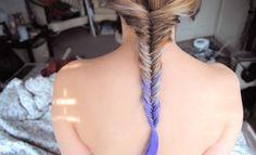 Tie-dye hair