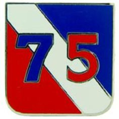"""U.S. Army 75th Infantry Division Pin 1"""" by FindingKing. $8.99. This is a new U.S. Army 75th Infantry Division Pin 1"""""""