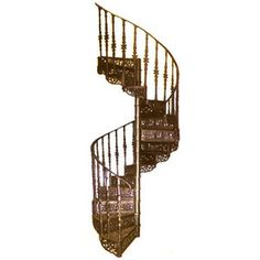 CAST IRON SPIRAL STAIRS AND CATWALKS | Cast Iron Spiral Staircase, CI Spiral Staircase - Polyvore