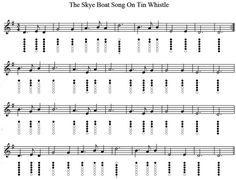 The Skye Boat Song Tin Whistle sheet Music Native Flute, Native American Flute, Tin Whistle, Song Sheet, Sheet Music, Partition Flute A Bec, The Skye Boat Song, Irish Folk Songs, Bagpipe Music