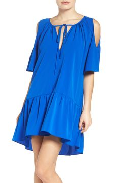A by Amanda Hamlet Dress Nordstrom Half Yearly Sale, Shirred Dress, Blue Fashion, Nordstrom Dresses, Casual Dresses For Women, Amanda, What To Wear, Cold Shoulder Dress, My Style