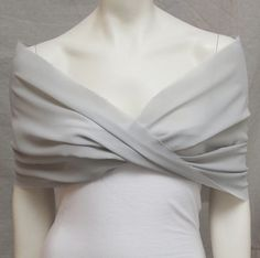 Silver Grey Shrug Bolero Chiffon Bride Bridal Capelet Bridal Stole Bridesmaid Wrap Wedding on Etsy, £27.25