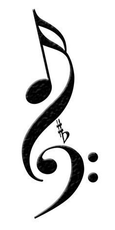 Bass clef, sharp, flat and semi quaver design www.bassguitarlife.com
