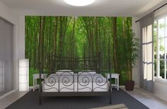 Green Passage - Wall Mural & Photo Wallpaper - Photowall  Would love to do this in a guest room.