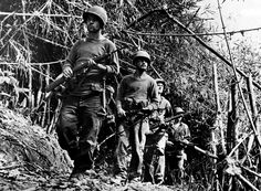 """February 24,   1944: WWII ‐ """"Merrill's Marauders"""" enter Burma  -    Maj. Gen. Frank Merrill's guerrilla force, nicknamed """"Merrill's Marauders,"""" begin a campaign in northern Burma. They were the first U.S.  ground troops on the Asian mainland."""