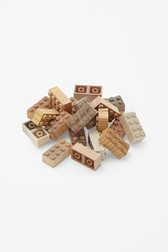 Amazing wooden lego bricks! Hand-made in Japan from maple, cherry and birch.