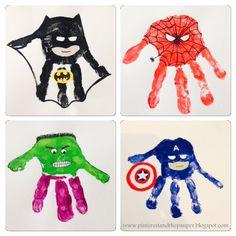 Super Hero Handprints!!!