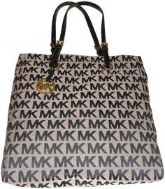 Women's Michael Kors Purse Handbag Tote Beige/Black/Black « Clothing Impulse