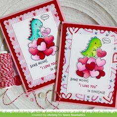 Lawn Fawn Rawralong with theHow You Bean? Conversation Heart Add-on