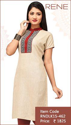 #Beige #Cotton #Kurti #Fashion #Apparels #Clothing #EthnicWear #Style #Women