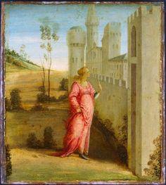 Filippino Lippi - Arrivo di Ester davanti alle mura di Susa 1480 - Ottawa, National Gallery of Canada