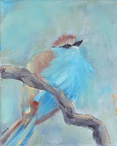Contemporary Bird Painting $55.00