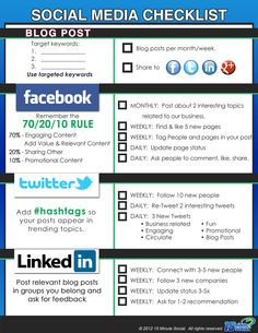 Social Media Posting Checklist  Need ideas for your social media content?  Download my FREE Guide!