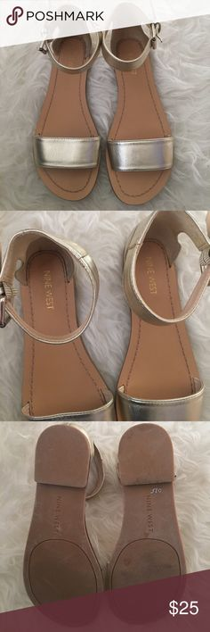 Nine West gold sandals New never worn gold Nine West sandals Nine West Shoes Sandals