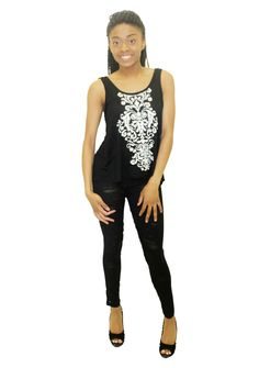 Pretty Girl - Black and White Printed Tank, $9.99 (http://www.shopprettygirl.com/black-and-white-printed-tank)