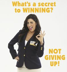 Wanna know the .........Secret to winning? #NeverGivingUp (Smiles)